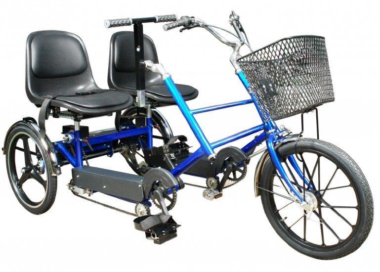 Rower Trójkołowy Rehabilitacyjny Dwuosobowy Misiarz